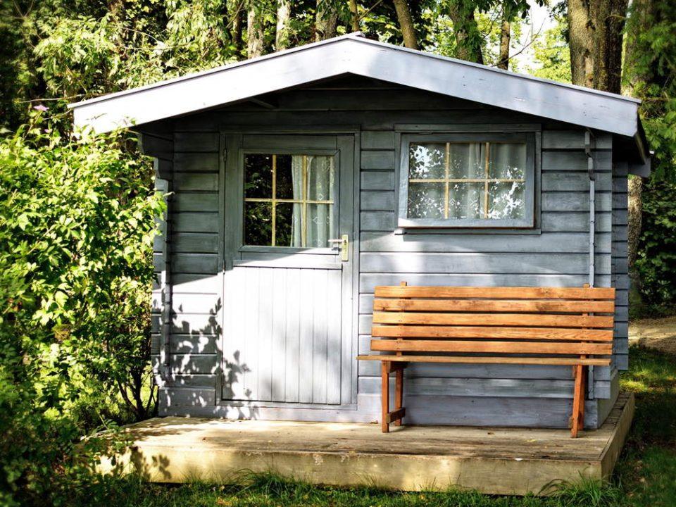 Caseta de madera para el jardín