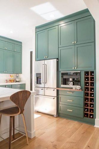 decorar cocina de verde