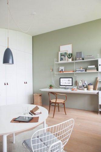 decorar en verde el estudio