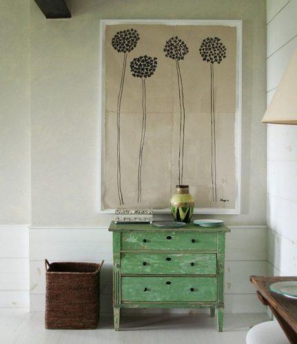 pintar de verde un mueble