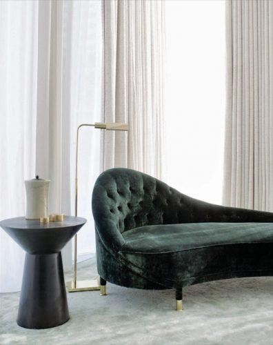 sofa verde terciopelo